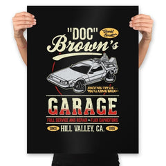 Doc Brown's Garage - Prints - Posters - RIPT Apparel