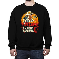 Red Galactic Marshall II - Crew Neck Sweatshirt - Crew Neck Sweatshirt - RIPT Apparel