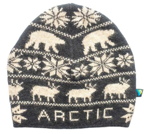 Arctic Edge Wildlife Beanie in Black - Arctic Edge
