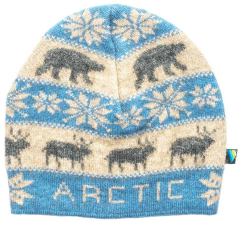 Arctic Edge Wildlife Beanie in Sky Blue - Arctic Edge