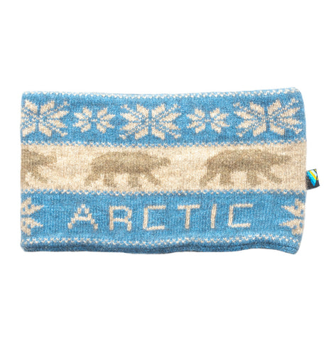 Arctic Edge Reversible Headband in Sky Blue & Natural - Arctic Edge