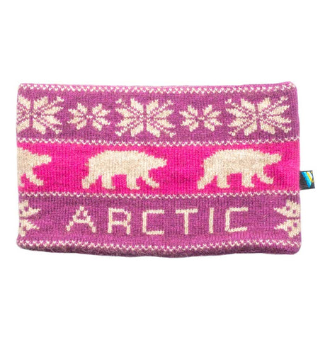Arctic Edge Reversible Headband in Pink & Natural - Arctic Edge