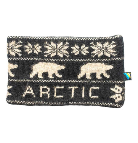Arctic Edge Reversible Headband in Black & Sky Blue - Arctic Edge