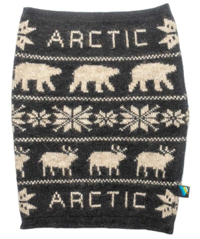 Arctic Edge Wildlife Neckwarmer in Black - Arctic Edge