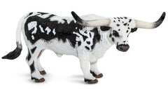 #100261 1/20 Black & White Texas Longhorn Bull