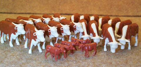 #12660B 1/64 Hereford Steers & Calves, 25 pc.