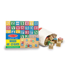 #1900 ABC/123 Wooden Block Set