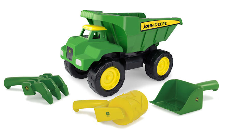 "#46510 John Deere 15"" Big Scoop Dump Truck with Sand Tools"