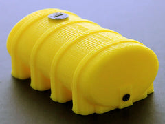 #64-322-Y 1/64 Yellow Eliptical Leg Tank, 2000 Gallon