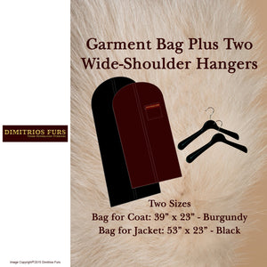 Garment Travel Bag and Two Hangers