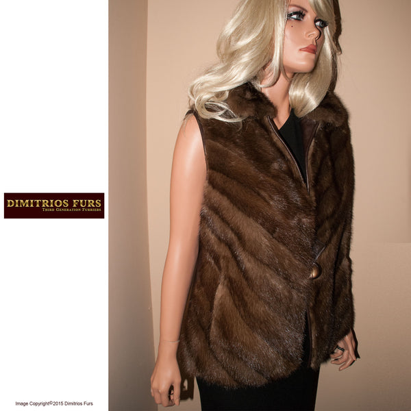 Fur Remodeling Idea 0019 - Mink Leather Vest
