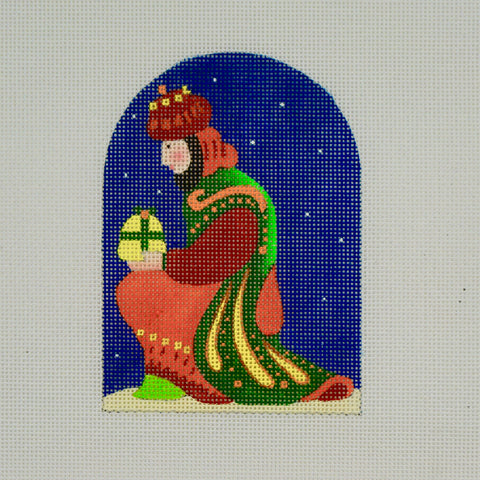 Holy Family - Kneeling Wiseman - by Melissa Shirley