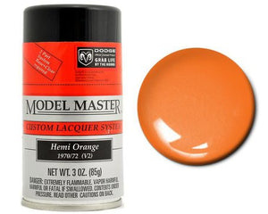 Testors 28107 3oz. Spray Model Master Auto Lacquer Hemi Orange - shore-line-hobby