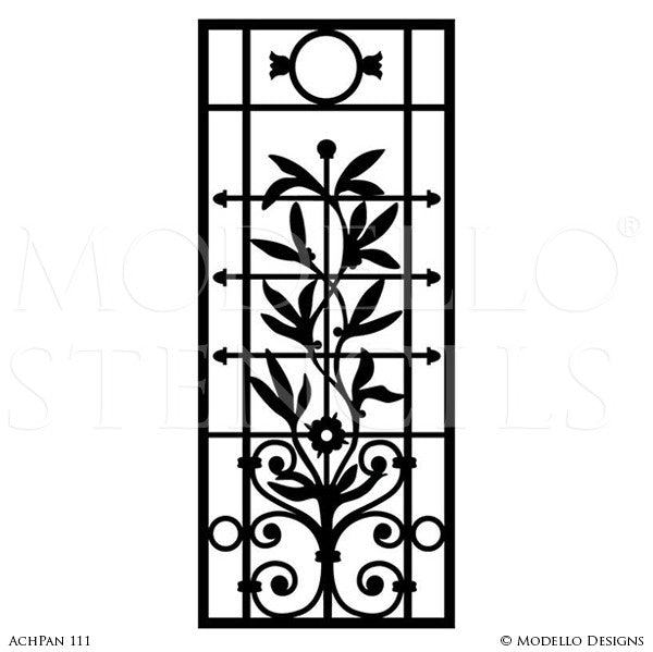 Paint Peel and Stick Stencils - Modello Wall & Furniture Panel Stencils for Professional Painters