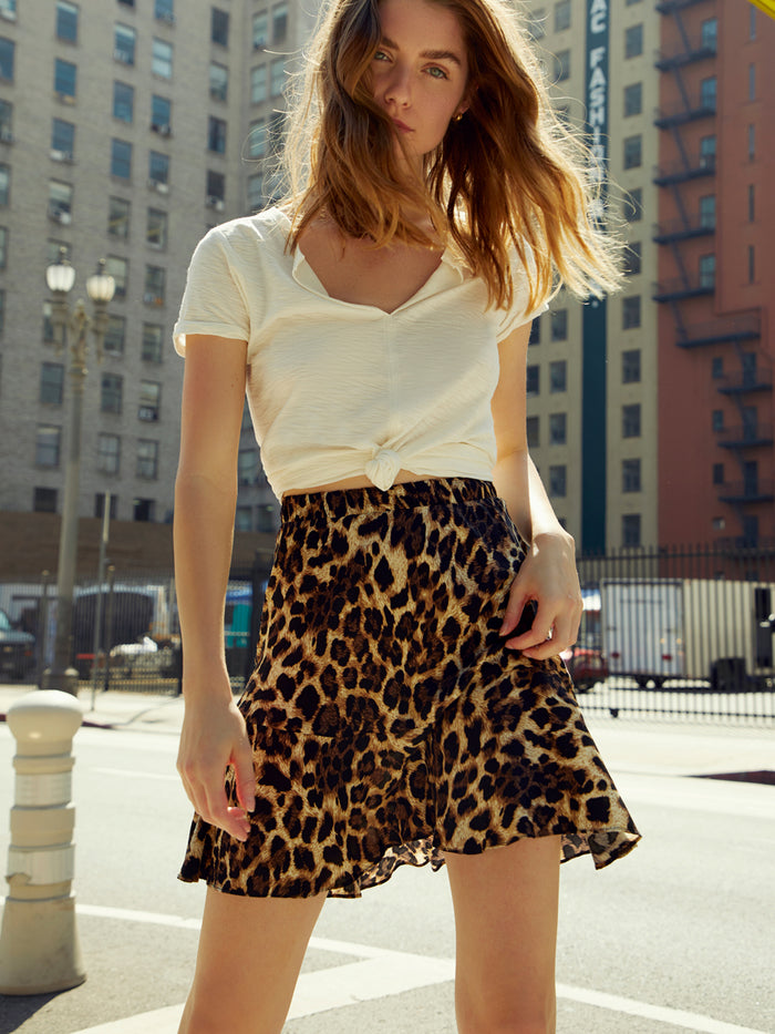 Nation LTD Claire Skirt in Leopard