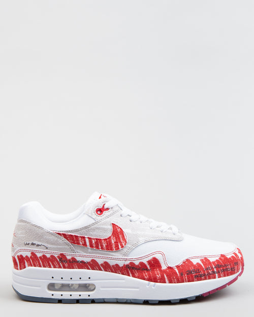 Air Max 1 Sketch To Shelf White/University Red/Neutral Grey 1
