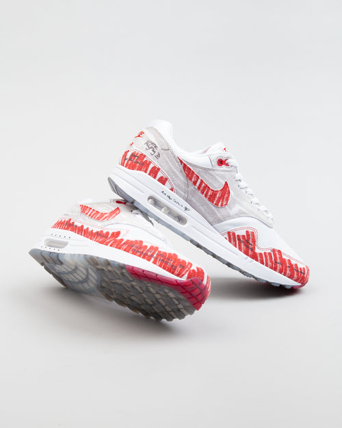 Air Max 1 Sketch To Shelf White/University Red/Neutral Grey 2