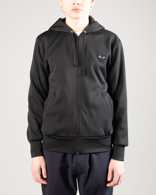 Big Heart Zip Hoodie Black 1