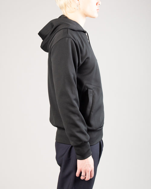 Big Heart Zip Hoodie Black 2