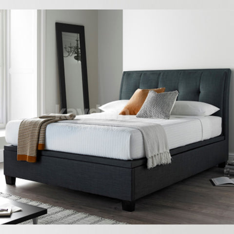 Accent Ottoman Bed - Super King - Slate or Oatmeal