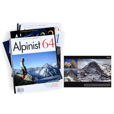 Alpinist 1-Year Subscription & Eiger Routelines Poster