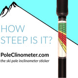 PoleClinometer™: The Ski Pole Inclinometer Sticker
