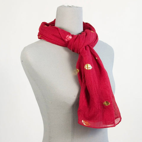 Red Football Scarf