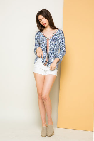 Long Sleeve Knit Print