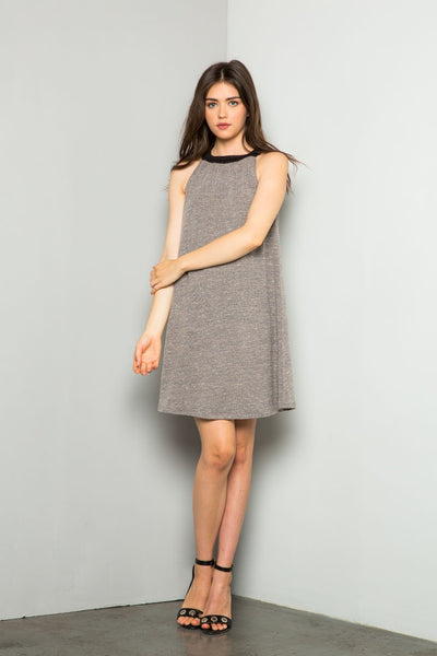 Sleeveless Halter Dress