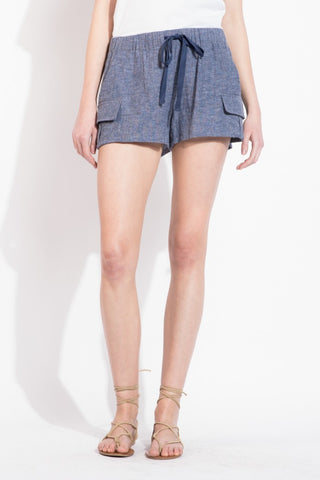 Drawstring Shorts with Side Pockets