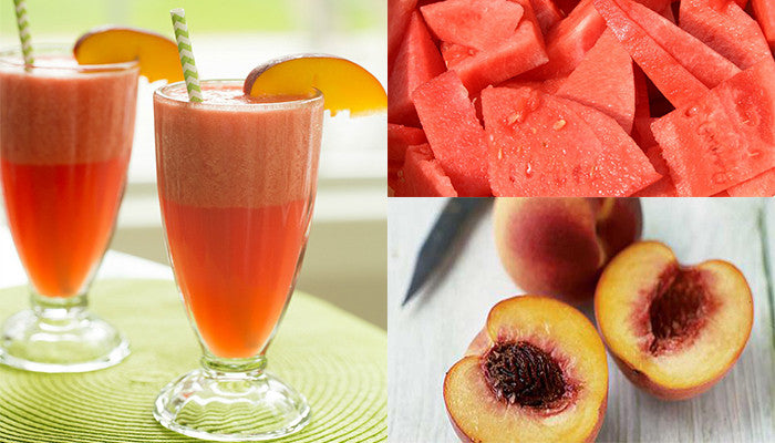 Taste of Summer Part 2: Tropical Watermelon and Peach Detox Smoothie