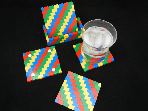 Classic Colors LEGO® Coasters Set and Stand