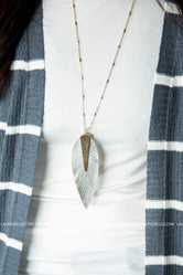 A New Leaf Leather Necklace
