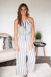 Step Aside Stripe Jumpsuit