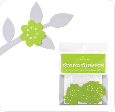 Stick Ons - Green Flower