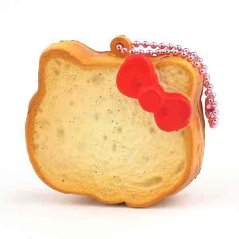 Sanrio Hello Kitty Squishy Face Shaped Rusk Ball Chain (Plain) - Hamee.com