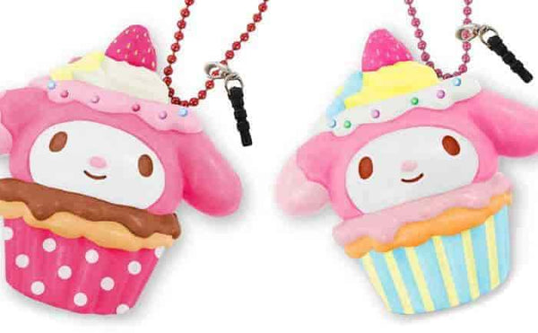 Sanrio My Melody Earphone Jack Cell Charm/Accessory (Chocolate/Berry) - Hamee.com