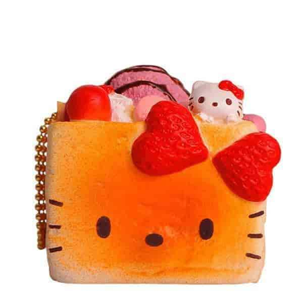 Sanrio Hello Kitty Lovely Sweets Series Keychain Squishy (Brick Toast) - Hamee.com