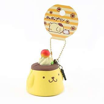 Sanrio Pompompurin Earphone Jack Cell Charm/Accessory (Pudding / Plain) - Hamee.com