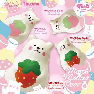 [Genuine] iBloom Marshmallow (Bear Mr. White Strawberry) Scented Slow Rising Animal Squishy (Red/Pink) (Regular Size) - Hamee.com