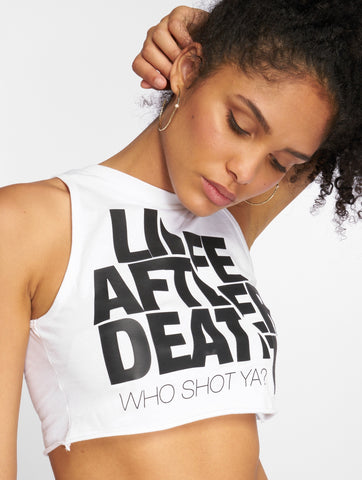 Image of Who Shot Ya? / Tank Tops Life after death in white-Universal Store London™