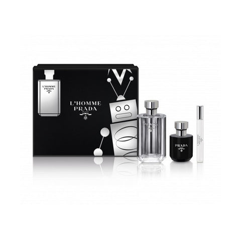 Image of Men's Perfume Set L'homme Prada (3 pcs)-Universal Store London™