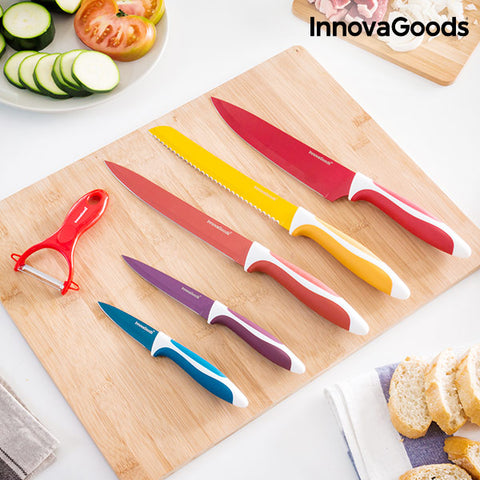 InnovaGoods Ceramic Knives and Peeler Set (6 pieces)-Universal Store London™