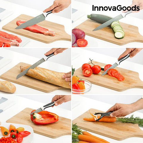 InnovaGoods Swiss·Q Stone Knives & Peeler Set (6 Pieces)-Universal Store London™