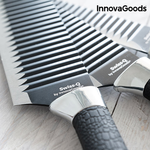 Image of InnovaGoods Swiss·Q Namiutsu Black Shark Knife Set (4 Pieces)-Universal Store London™