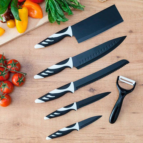 Image of Cecotec Top Chef Black C01024 Knives (6 pieces)-Universal Store London™