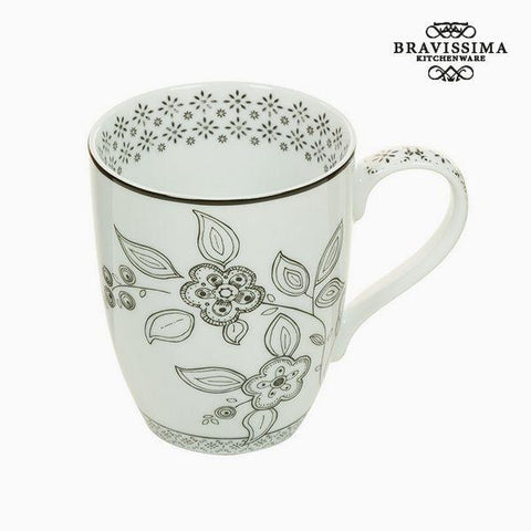 Image of Cup Porcelain Flowers - Kitchen's Deco Collection by Bravissima Kitchen-Universal Store London™