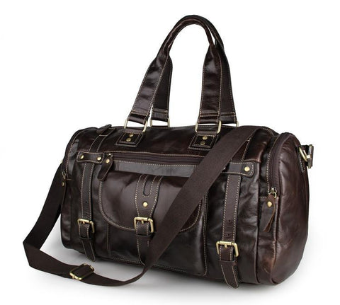 Image of 'New South Wales' Leather Travel Bag-Universal Store London™