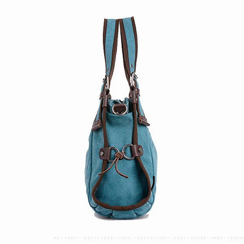 Image of 'Sardinia' Canvas Hobo Crossbody Bag Shoulder Bag-Universal Store London™
