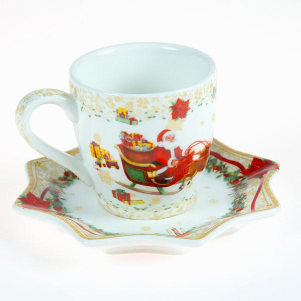 Set of 2 christmas coffee cups by Bravissima Kitchen-Universal Store London™